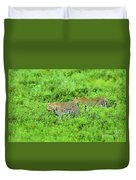 Leopard On The Move Duvet Cover