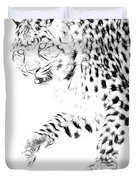 Leopard Spots Black And White Duvet Cover