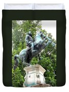 Leopold Statue Duvet Cover