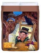 Leprechaun's Lair Duvet Cover by Heather Calderon