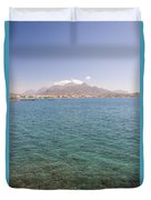 Lerapetra From Across The Bay Duvet Cover