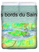 C'est Sur Les Bords Du Saint-laurent Mug Shot Duvet Cover