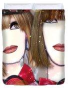 Les Filles Rouget Duvet Cover