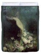 Les Fleurs Du Sommeil Duvet Cover by Achille Theodore Cesbron