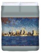 Less Wacky Philly Skyline Duvet Cover
