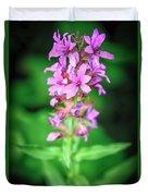 Lesser Purple Fringed Orchid Duvet Cover