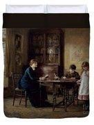 Lessons Duvet Cover by Helen Allingham
