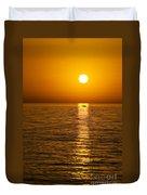 Lesvos Sunset Duvet Cover by Meirion Matthias
