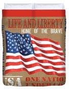 Let Freedom Ring Duvet Cover
