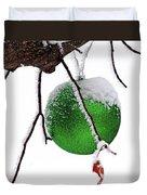 Let It Snow Christmas Ornament Duvet Cover