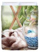 Let Sleeping Cats Lie Duvet Cover