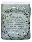 Let There Be Spaces Duvet Cover