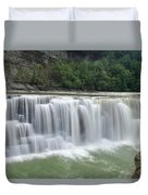 Letchworth Falls Sp Lower Falls Duvet Cover