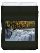 Letchworth Falls Sp Middle Falls Duvet Cover