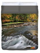 Letchworth Falls Sp Wolfe Creek Duvet Cover