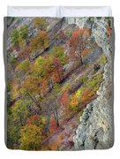 Letchworth Falls State Park Fall Colors Duvet Cover