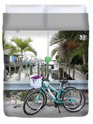 Let's Bike There Duvet Cover