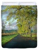 Let's Drive Through The Vineyard Duvet Cover