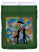 Dancing In The Rain Duvet Cover