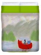 Let's Go Canoeing  Duvet Cover