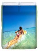 Lets Go Surfing Duvet Cover