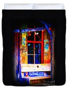 Let's Go To Luckenbach Texas Duvet Cover by Susanne Van Hulst