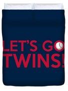 Let's Go Twins Duvet Cover