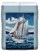 Let's Set Sail Duvet Cover