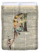 Letter A Monogram Duvet Cover