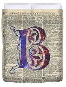 Letter B Monogram Duvet Cover