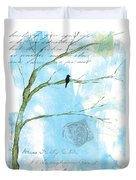 Letters From Home Duvet Cover