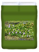 Lettuce Lake Flowers Duvet Cover