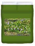 Lettuce Lake Flowers Duvet Cover