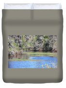 Lettuce Lake With Bridge Duvet Cover