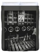 Levers And Gauges Duvet Cover
