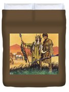 Lewis And Clark Expedition Scene Duvet Cover