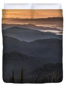 Lewis And Clark Route 2 Duvet Cover
