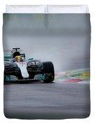 Lewis Hamilton Monza 2017 Duvet Cover