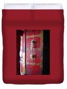 Lhasa Temple Door Duvet Cover