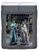 Liberties In Times Square Duvet Cover