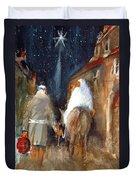 Liberty - Arriving In Bethlehem Duvet Cover