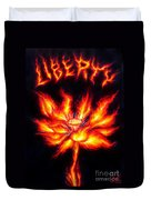 Lotus Of Wisdom. Liberty Fire Duvet Cover