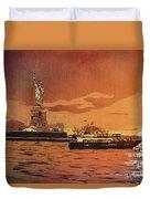Liberty Island- New York Duvet Cover