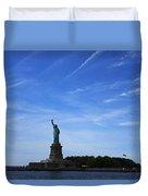 Liberty Island Statue Of Liberty Duvet Cover