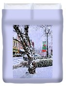Liberty Square In Winter Duvet Cover