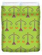 Libra Zodiac Sign Pattern Duvet Cover