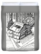 Library Book Fairy House Duvet Cover