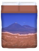 Licancabur Volcano Seen From The Atacama Desert Chile Duvet Cover