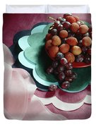Lichees And Grapes Duvet Cover