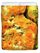 Lichen Abstract 2 Duvet Cover by ABeautifulSky Photography